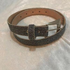 🆕Sparkly silver belt